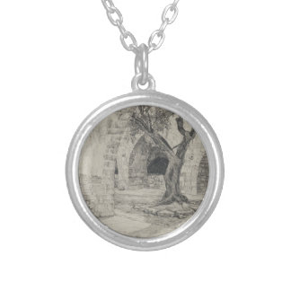 Out-building of the Armenian Convent, Jerusalem Silver Plated Necklace
