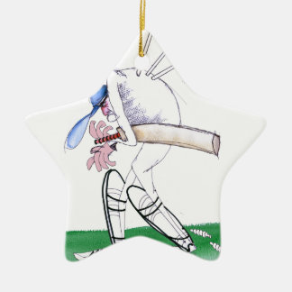 out for nought - cricket, tony fernandes ceramic star ornament