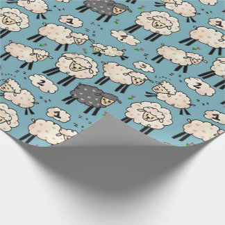 """Out for the Count"" Sheep Gift Wrap"