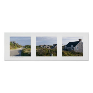 Out in Sconset, Nantucket, Massachusetts Triptych Poster