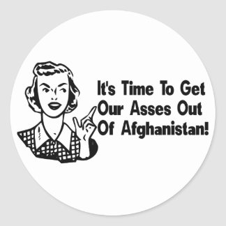Out of Afghanistan Round Sticker