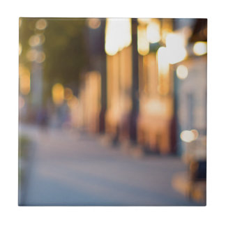 Out of focus image of streets and buildings tiles