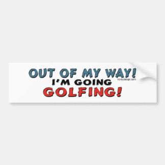 Out Of My Way Golfing Bumpersticker Bumper Sticker