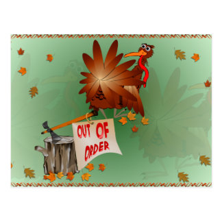 Out Of Order Thanksgiving Postcard