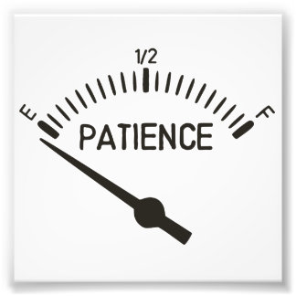 Out of Patience Gas Gauge Art Photo