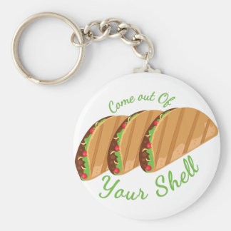 Out Of Shell Basic Round Button Keychain
