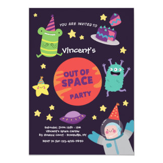 Out of Space Party Invitation