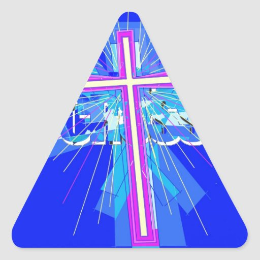 Out of the blue... triangle stickers
