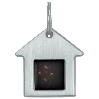Out of the Dark Abstract Art House Pet Tag