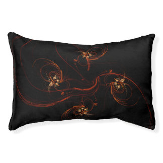 Out of the Dark Abstract Art Pet Bed