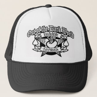 out  of the dark world tattoos trucker hat