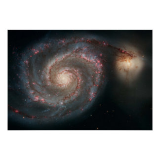 Out of This Whirl-the Whirlpool Galaxy (M51) and C Poster