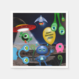 Out Of This World Personalized Birthday Paper Napkins
