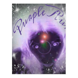 Out Of This World Purple Aura Postcard