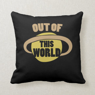 Out of this world Saturn Throw Pillow