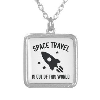 Out Of This World Silver Plated Necklace