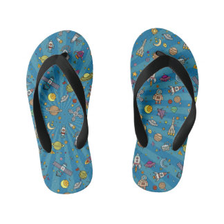 Out of this World Space Kid's Flip Flops