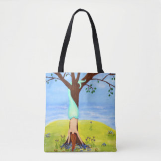 Out Of Water Mermaid Art Tote Bag