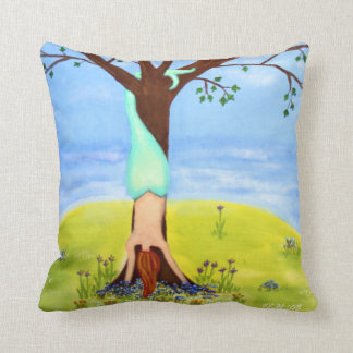 """""""Out Of Water"""" Mermaid Fantasy Art Throw Pillow"""
