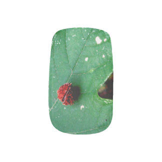 Out on a Leaf Minx Nail Art