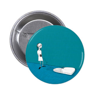 out on the wire 2 inch round button