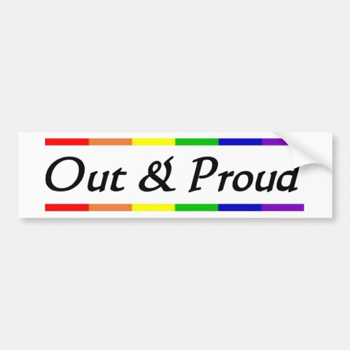 Out & Proud Bumper Sticker