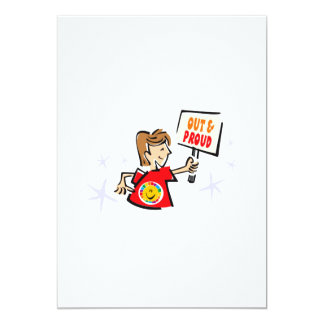 """Out & Proud 5"""" X 7"""" Invitation Card"""