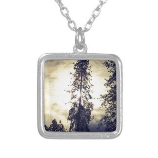 Out the kitchen window silver plated necklace
