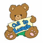 Out to Lunch Teddy Bear Photo Cut Out