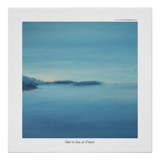 Out to Sea at Fowey Poster