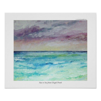Out to Sea from Chapel Porth Poster
