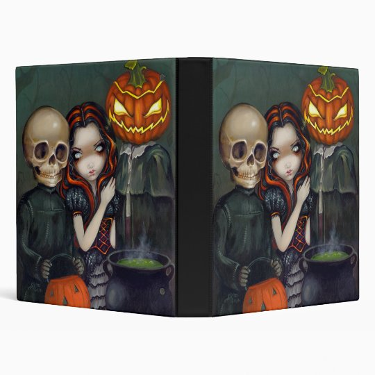 Out Trick-or-Treating BINDER Halloween Skull Witch