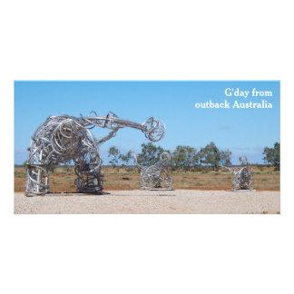Outback Australia photo card
