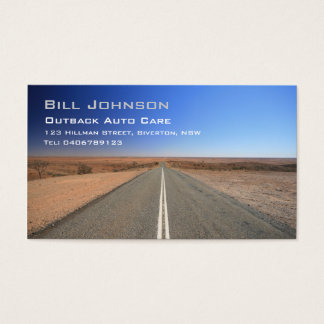 Outback Australia Road, Auto Care - Business Card