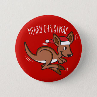 Outback Christmas 2 Inch Round Button
