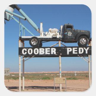 Outback Coober Pedy Customized Souvenir Square Sticker