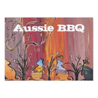 Outback Kangaroos  Aussie BBQ Invitations
