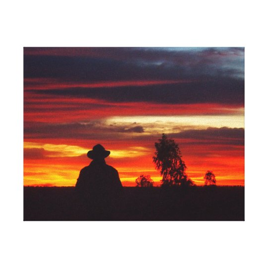 Outback Sunset on canvas