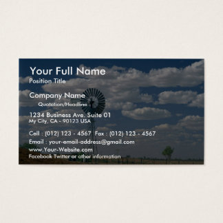 Outback windmill, South Australia Business Card
