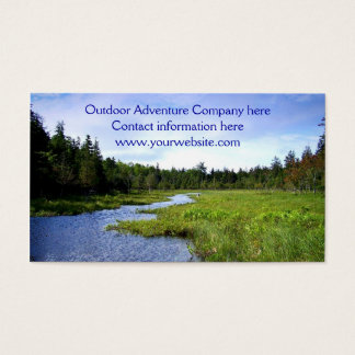 Outdoor Adventure Template Business Card