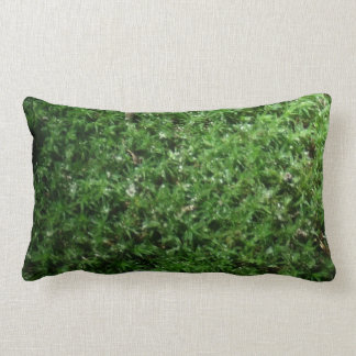 Outdoor Botanical Green Ground Moss Lumbar Pillow