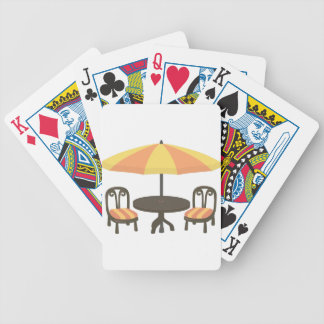 Outdoor Cafe Seating Bicycle Playing Cards