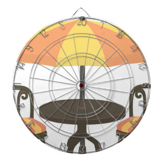 Outdoor Cafe Seating Dartboard