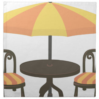 Outdoor Cafe Seating Napkin