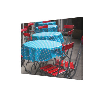 Outdoor Cafe Tables Canvas Print