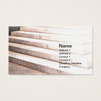 outdoor cement steps business card