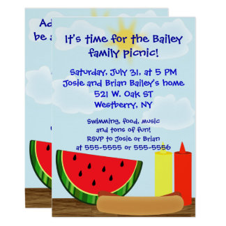 Outdoor Cookout Invitation - Two Sided