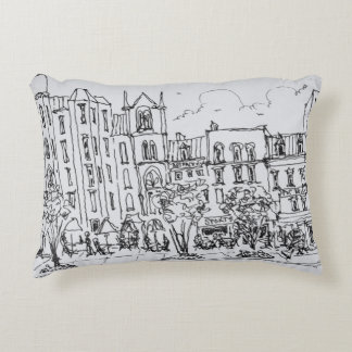 Outdoor Dining along Indiana St. | Washington DC Decorative Pillow