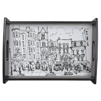 Outdoor Dining along Indiana St. | Washington DC Serving Tray