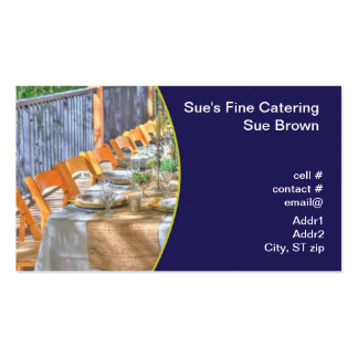 outdoor dinner party pack of standard business cards